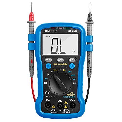 Multimeter BT-39K BTMETER Auto Range Digital Avometer Universal Meter 4000 Counts With New Substitutable Fixed Mode, NCV, Diode,DC & AC Voltage, DC & AC Current, Resistance, Capacitance, Frequency by BTMETER