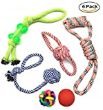 AlinkZ Chew Bell Toys, Dog Rope Toys and Pet Ball Rope for Small Medium Doggie, Puppy Teething Toys, Puppy Toys, Fun Dog Toys, Dog Chew Toys(Set of 6)