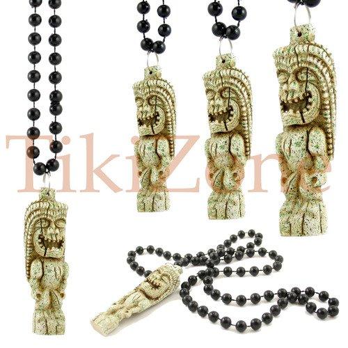 Hawaiian/parrothead Stone Look Tropical Tiki Necklace -