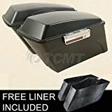 TCMT Matte Black Saddlebags w/ Lid Latch For Harley Road Glide Road King 1994-2012