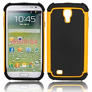Samsung i9500 Case , Hard Shell Silicone Skin Protective Case Cover Shell for Samsung i9500 (Orange)