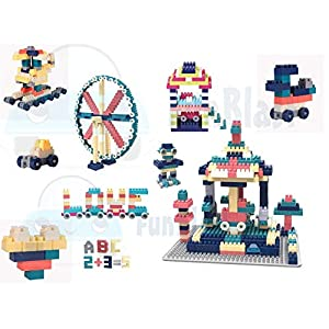 FunBlast DIY Building Blocks for Kids, Building Blocks with Baseplate – Learning and Education Toys for Kids- 100+ Pcs…