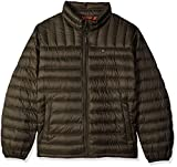 Tommy Hilfiger Men's Packable Down Jacket, Olive, 4X Big