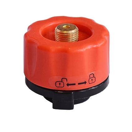 GEZICHTA Tanque de Gas butano para Acampada al Aire Libre con Cabezal de Conversión, Rojo
