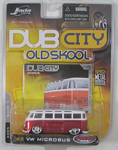 Dub City Jada Oldskool '62 VW Microbus 1:64 Scale , 2005 Wave 1 Die Cast -