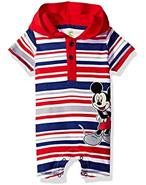 Baby Boys' Mickey Mouse Hooded Romper