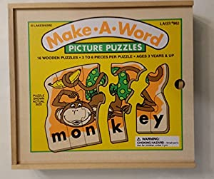 Amazon.com: Lakeshore Make A Word Puzzle Picture Puzzles: Toys & Games