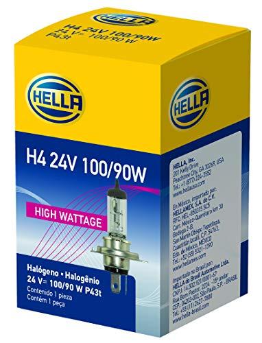 HELLA H4 24V 100/90W High Wattage Bulb