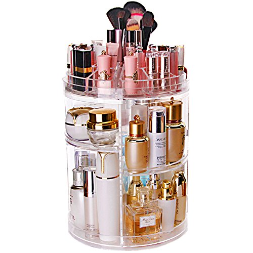 Sooyee 360 Degree Rotating Acrylic Makeup and Jewelry Organi
