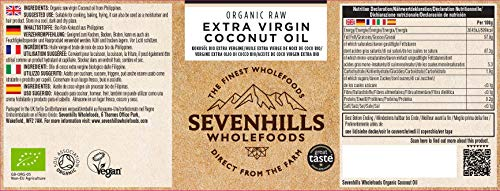 Sevenhills Wholefoods Crudo Vergine Extra Olio Di Cocco Bio, Spremuto A Freddo 500ml 2 spesavip