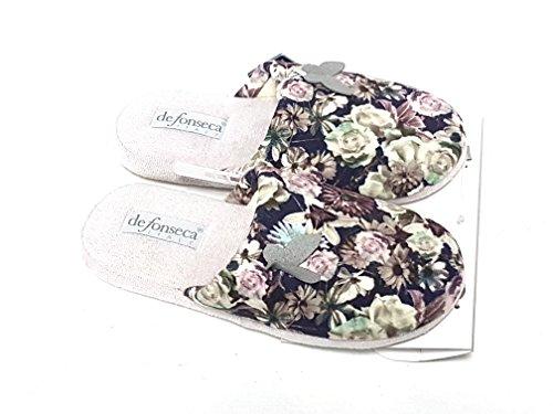 de fonseca pantofola donna de roma w67 multicolore