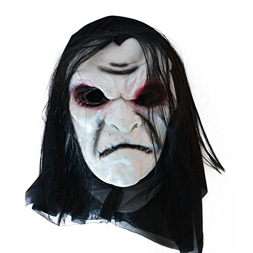 LMYSTAR Latex Creepy Scary Halloween Toothy Zombie Ghost Mask Scary Emulsion Skin with (The World's Most Interesting Man Halloween Costume)