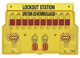 Master Lock French/English 10-Padlock Capacity Lockout Station with Cover, Includes 10 Aluminum Padlocks