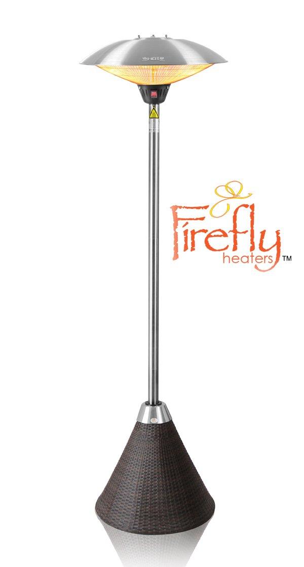 2.100 Watt Firefly Standheizstrahler mit 3 Leistungsstufen (Braun)