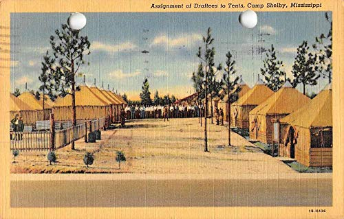Camp Shelby Mississippi Assignment of Draftees to Tents Postcard JD933811