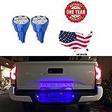 license plate frame mustang 2015 - LED Monster 2x T10 194 Wedge Blue LED Lights Bulbs for License Plate Lamps License Frame Tag Number Plate (2)