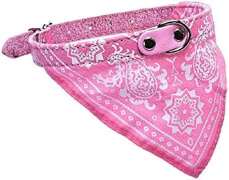 Malloom/® peque/ño ajustable mascota perro cachorro gato cuello bufanda pa/ñuelo collar rosa