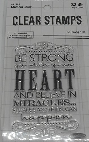 Be Strong Go With Your Heart Stamp