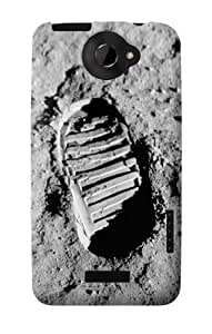S0780 First Moon Step Case Cover for HTC ONE X