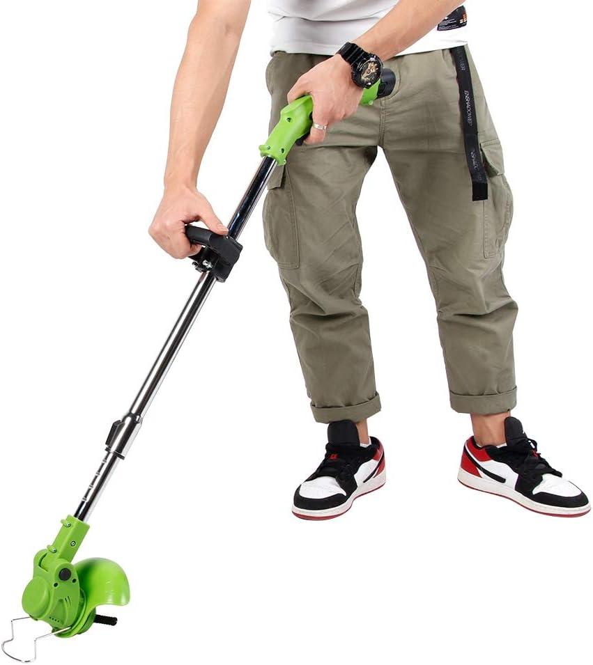 Qiterr 【???????????????????????? ????????????????????????????????????】 Electric Lawn Mower, 12V Portable Waterproof Garden Electric Lawn Mower Grass Trimmer Machine (#1)