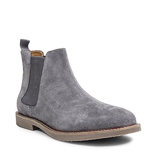 Steve Madden Men's Highline Chelsea Boot, Grey Suede, 10 M US