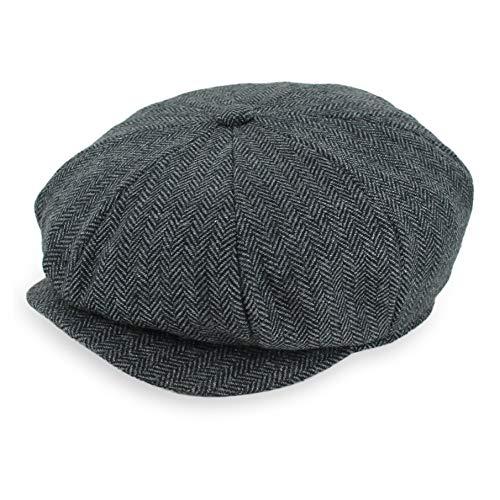 Belfry Newsboy Gatsby Men's Women's Soft Tweed Wool Cap in 8 Colors (Large, Charcoal Tweed) (Best Caps In The World)