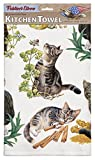 Tabby Kittens 100% Cotton Eco-Friendly Dish Towel, Kitchen Towel With Hanging Loop, Cat Dish Towel, Gift For Cat Lovers