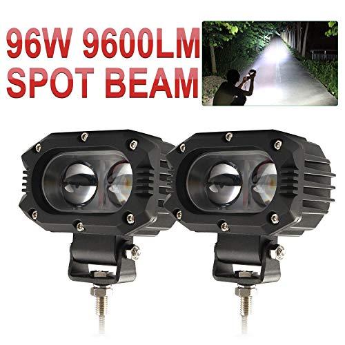 CO LIGHT 2019 LED Driving Lights 4inch 48W Spot Beam LED Work Light Fog Lights Pod Lights for Motor ATV Truck Boat Jeep Tractor Forklift 3 Years Warranty, 914Z-Spot-2pcs