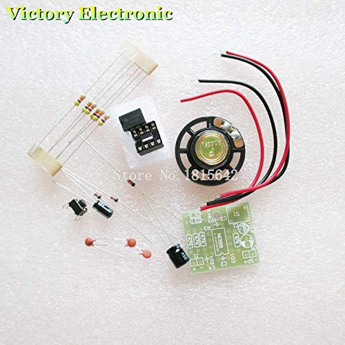 WuLian 2PCS/LOT Perfect Doorbell Suite Electronic DIY Kit for Home Security 6V PCB 3.9 x 3.5 cm