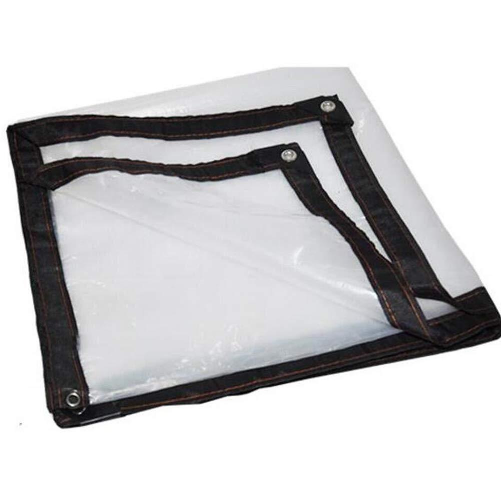2x3M Wangcfsb BÂche Transparente imperméable à l'eau, Film avec Isolation renforcée par Oeillets (Taille   3x4M)