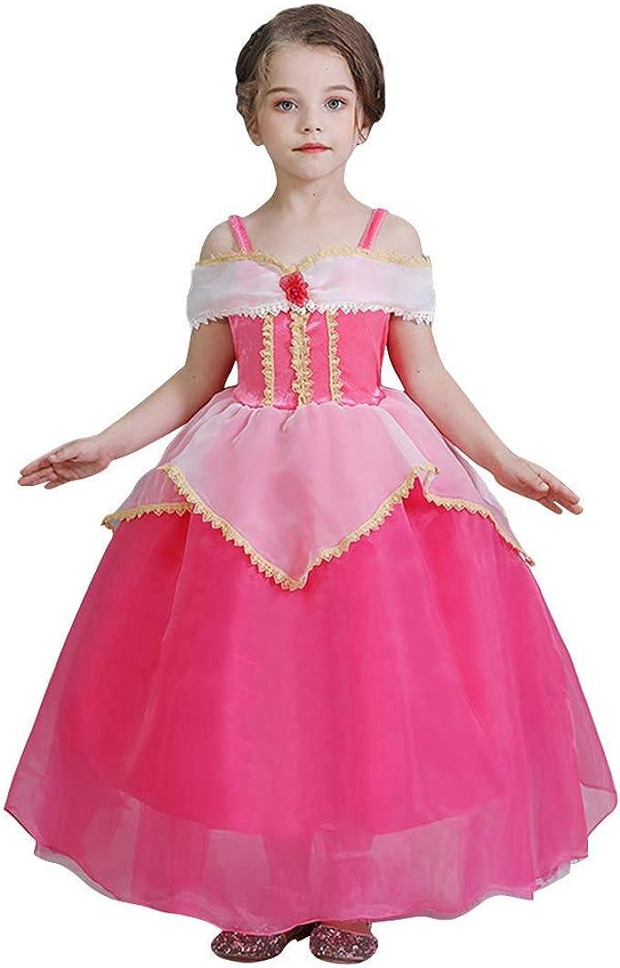 OwlFay Disfraz de Princesa Aurora Niña Vestido de Bella Durmiente ...