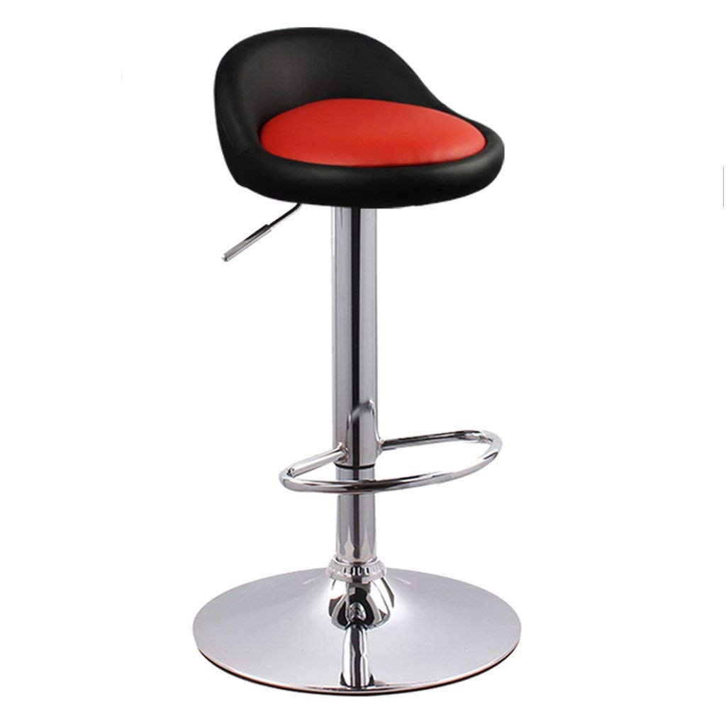 4 Bar Stools Home Bar Stools, Lift Bar Chair High Foot Backrest Bar Chair Household Continental Chair Adjustable Height with Armrests Stool (color    3)