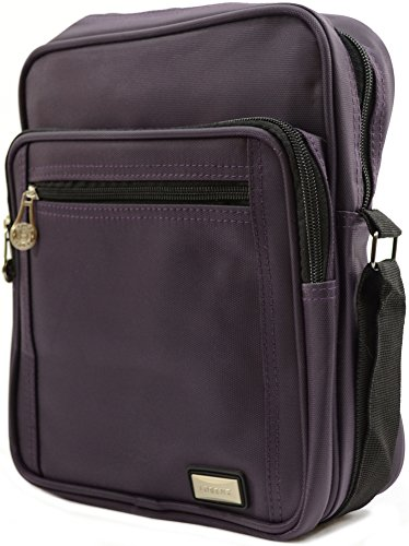 'Small Bag Canvas Messenger' Mens Travel Ladies Shoulder Smooth Purple Work Style RqRYzxH