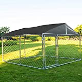 MAGIC UNION Heavy Duty Dog Cage Outdoor Pet Playpen Wire Kennel with Water-Resistant Cover