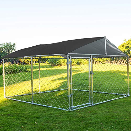 Action club Heavy Duty Dog Cage Outdoor Pet Playpen Wire Kennel with Cover ()