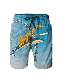 Mens Cargo Shorts Shoal of Fish Board Shorts of Refreshing