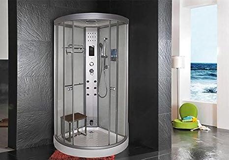 Cabina doccia idromassaggio sauna bagno turco 90x90: Amazon.it: Casa ...