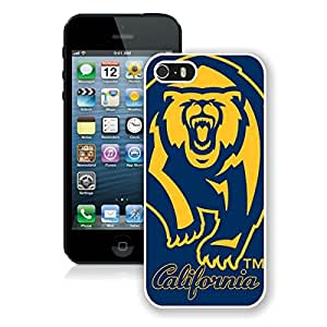 Coming with screen protector Absorbing Custom Design NCAA Pacific 12 Conference Pac 12 Football California Golden Bears 6 White Case For iPhone 5 Generation