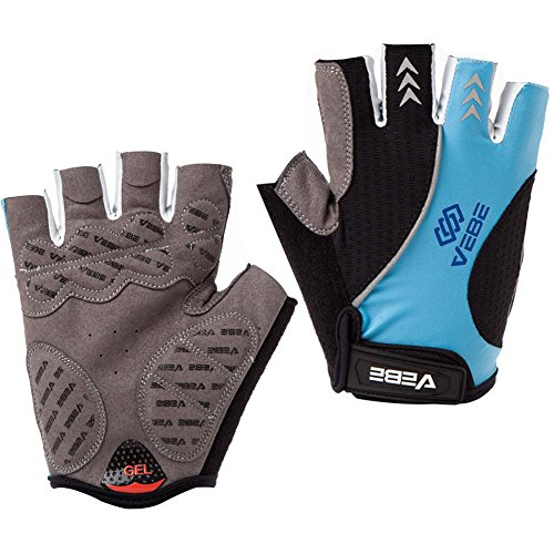 SBD VEBE Mens Sports Professional Training Biking Riding Gloves Cycling Accessaries,skyblue,M Icon Ringer