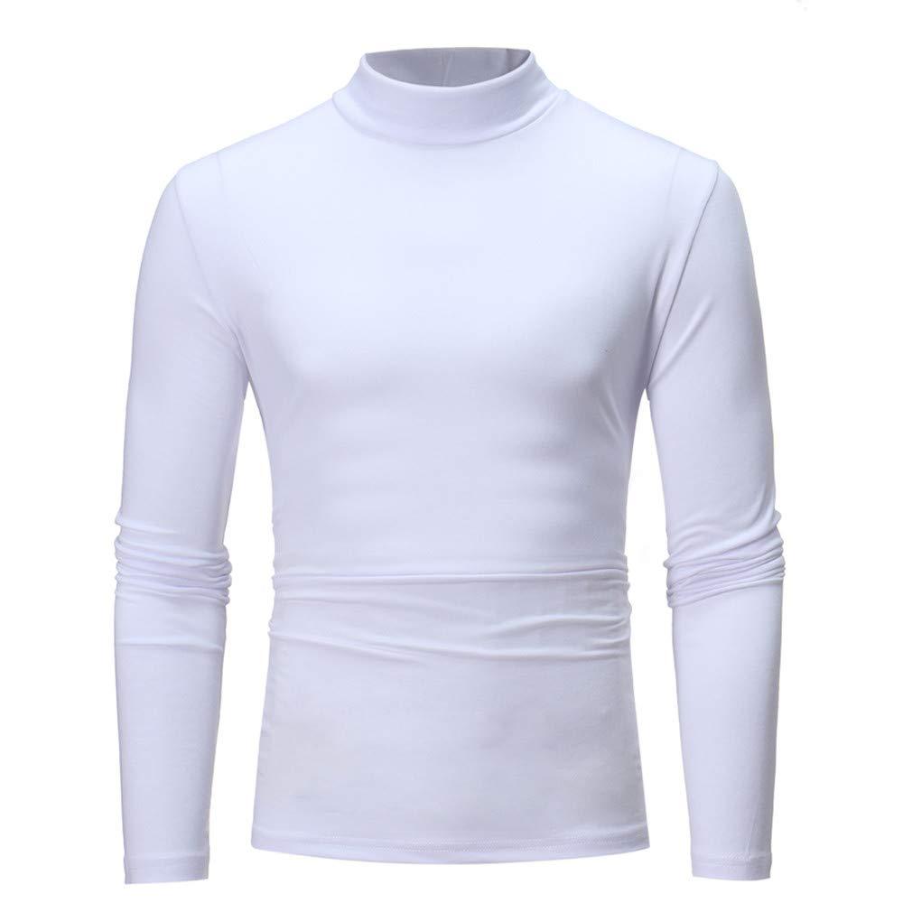 Zolimx T-Shirt A Maniche Lunghe da Uomo, Slim Fit, Maglia con Cerniera A Maniche Lunghe Maglietta Girocollo Tinta Unita da Uomo Camicie da Uomini Camicia Uomo Felpe Hoodie Uomo