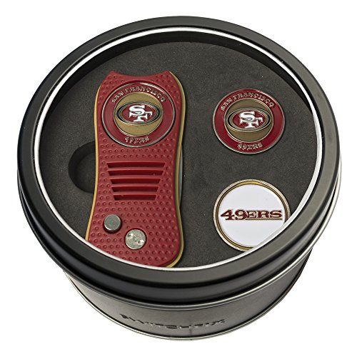NFL San Francisco 49ers Tin Gift Set with Switchfix Divot Tool and 2 Ball Markers