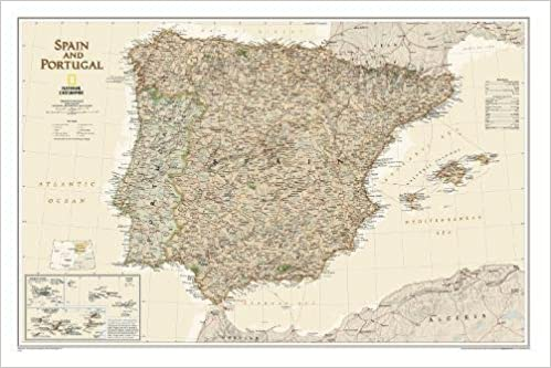Spain portugal executive tubed wall maps countries regions spain portugal executive tubed wall maps countries regions national geographic reference map amazon national geographic maps 9781597752930 gumiabroncs Image collections