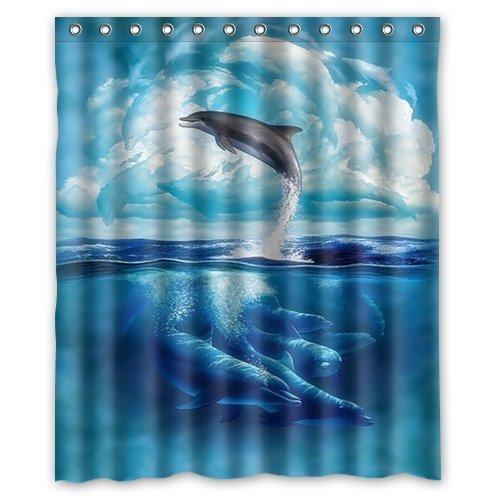 Dolphin shower curtains for Dolphin bathroom design