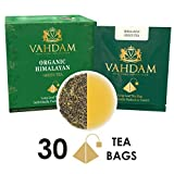 VAHDAM®, Green Tea Leaves from Himalayas (30 Tea Bags), 100% Natural Detox Tea, Weigh Loss Tea & Slimming Tea, RICH NATURAL IN ANTI-OXIDANTS, World's Finest Green Tea Loose Leaf, Packed at Source