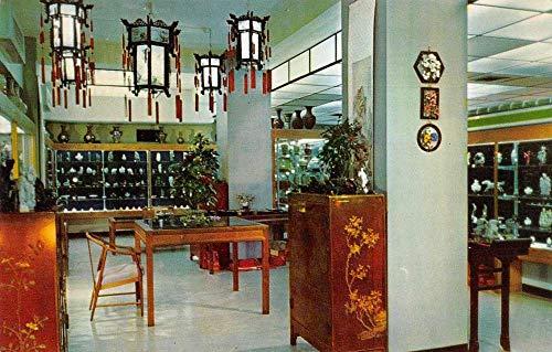 Hong Kong China Chinese Arts and Crafts Store Interior Vintage Postcard J927925