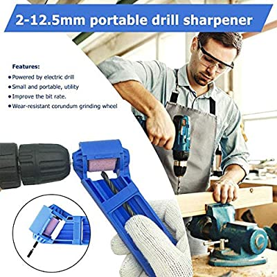 Ansblue Diamond Drill Bit Sharpening Tool Multi Function Electric Sharpening Machine Portable Drill Bit Sharpening Tool Diamond Drill Bit Grinding Tool Corundum Grinding Tools for Sharp Edge