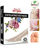 Foot Peeling Mask, Exfoliating Socks Foot Peel Mask for Baby Soft Skin, Remove Dead Skin & Calluses in 1-2 Weeks, Get Smooth Soft Foot for Men & Women by JaBoMay(2 pairs)