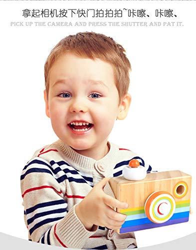 SWZY Caleidoscopio Cartoon Mini Macchina Macchina Fotografica Giocattolo di Legno,Cartoon Mini Macchina Fotografica Caleidoscopio,Arancione