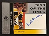2002-03 UD BOBBY ORR SP Authentic Auto On Card Autograph Bruins - Upper Deck Certified - Hockey Slabbed Autographed Cards