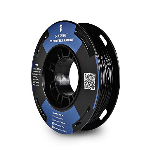 SAINSMART 1.75mm 250g Flexible TPU 3D Printing Filament, Dimensional Accuracy +/- 0.05 mm (Black)